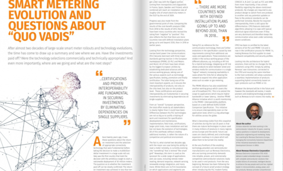 """Smart metering evolution and questions about """"quo vadis"""" by Renesas – Smart Energy International"""