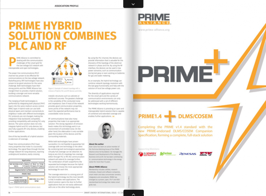 PRIME hybrid solution combines PLC and RF by ZIV Automation – Smart Energy International